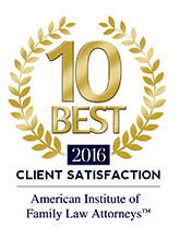 Best 2016 Attorney Client satisfaction | American Institute of Family Law Attorneys